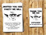 Yoda Birthday Party Invitations Yoda Birthday Invitations and Thank You Cards by