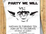 Yoda Birthday Party Invitations Yoda Birthday Invitations Star Wars Darth by