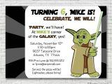 Yoda Birthday Party Invitations Yoda Inspired Birthday Party Invitation by Freshlycutcards
