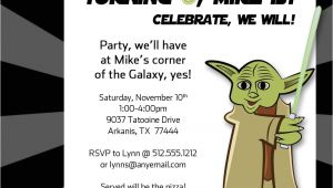 Yoda Birthday Party Invitations Yoda Inspired Birthday Party Invitation by Freshlycutcards