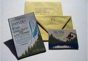 Yosemite Wedding Invitations Olive Route Design Print Yosemite Wedding