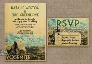 Yosemite Wedding Invitations Yosemite Save the Date Postcards Vtw Nifty Printables