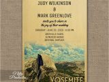 Yosemite Wedding Invitations Yosemite Wedding Invitation Printed Nifty Printables