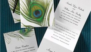 Z Fold Wedding Invitation Template Peacock Feather Z Fold Wedding Invitation Invitations