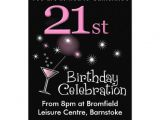 "Zazzle 21st Birthday Invitations 21st Birthday Party Invitation Cocktail Glass 5"" X 7"