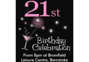 "Zazzle 21st Birthday Invitations 21st Birthday Party Invitation Cocktail Glass 5"" X 7"