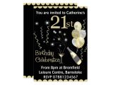 Zazzle 21st Birthday Invitations 21st Birthday Party Invitations Black & Gold