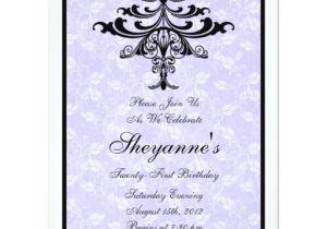 Zazzle 21st Birthday Invitations Chandelier Purple 21st Birthday Party Invitation
