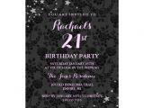 Zazzle 21st Birthday Invitations Sparkle Stars 21st Birthday Invitation