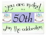 "Zazzle 50th Birthday Invitations 50th Birthday Party Personalized Invitation 4 25"" X 5 5"