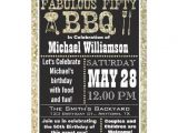 Zazzle 50th Birthday Invitations Bbq 50th Birthday Party Invitation