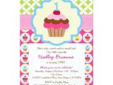 "Zazzle Birthday Party Invitations Bright Cupcake 1st Birthday Party Invitation 5"" X 7"
