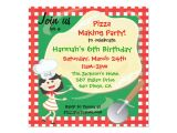 Zazzle Birthday Party Invitations Pizza Making Birthday Party Invitation Card
