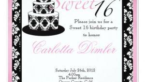 Zazzle Sweet 16 Birthday Invitations Sweet Sixteen Birthday Party Invitations