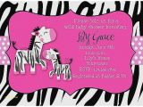 Zebra Print Baby Shower Invites Baby Shower Invitation Beautiful Zebra Print Baby Shower