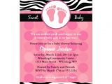 "Zebra Print Baby Shower Invites Mod Zebra Print Baby Shower Invitations 5"" X 7"" Invitation"