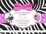 Zebra Print Baby Shower Invites Zebra Baby Shower Invitations