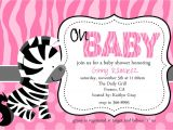 Zebra Print Baby Shower Invites Zebra Baby Shower Invitations Template