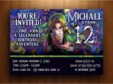 Zelda Party Invitations Legend Of Zelda Birthday Invitation Majora 39 S Mask