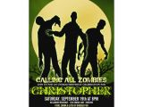 Zombie Birthday Invitation Template Full Moon Zombie Birthday Party Invitations Zazzle