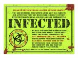 Zombie Birthday Invitation Template Infected Notice Zombie Birthday Party Invitations 5 Quot X 7