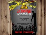 Zombie Birthday Invitation Template Zombie Birthday Invitation Zombie Party Apocalypse by