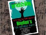 Zombie Birthday Invitation Template Zombie Birthday Party Invitation Printable