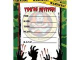 Zombie Birthday Invitation Template Zombie Hunter Fill In Invitations 16ct Zombie Birthday