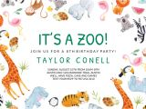 Zoo Animal Party Invitation Template Its A Zoo Birthday Invitation Template Free