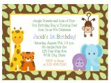 Zoo Animal Party Invitation Template Jungle Animals 1st Birthday Invitation Baby Shower