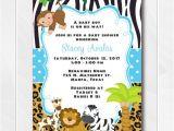 Zoo Animal Party Invitation Template Jungle Safari Invitations for Boys Safari Baby Shower