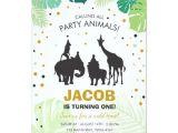 Zoo Animal Party Invitation Template Safari Birthday Invitation Zoo Wild Jungle Animals