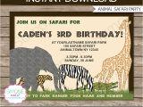 Zoo Animal Party Invitation Template Safari or Zoo Party Invitations Template Invites