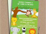 Zoo Animal Party Invitation Template Zoo Animal Birthday Party Invitation Template Jungle Animals