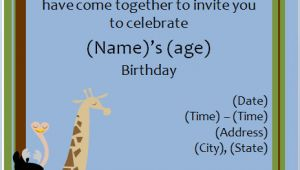 Zoo Party Invitation Template 40th Birthday Ideas Free Animal Birthday Invitation Templates